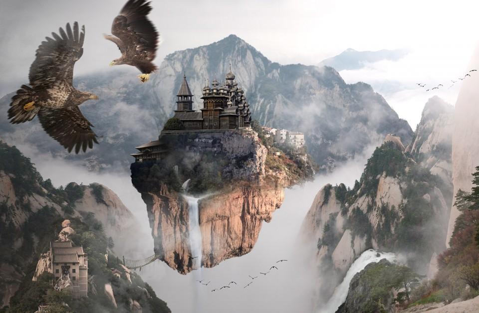 Zhangjiajie digital artwork