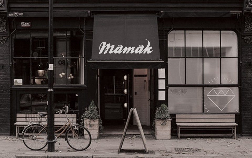Mamak coffee shop front