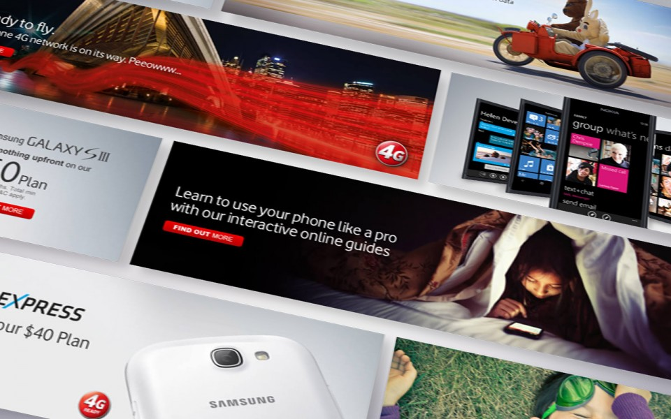 Vodafone web banners