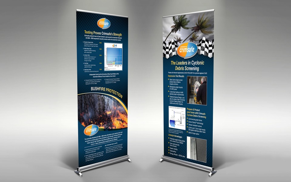 Crimsafe Security banners