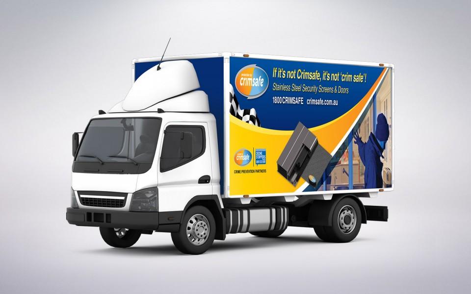 Crimsafe Security truck design