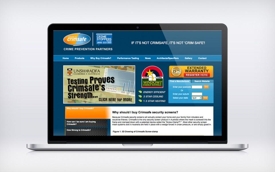 Crimsafe Security website
