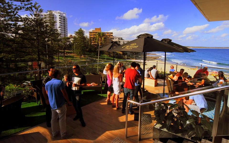 Cronulla Surf Club outdoor deck photograph