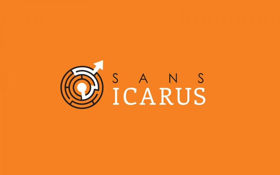 Sansicarus logo on orange