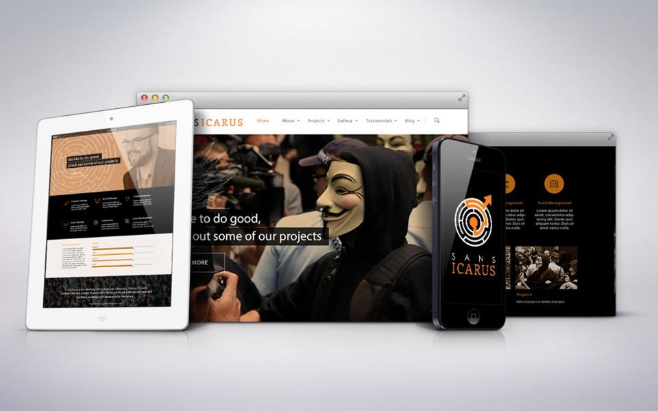 Sansicarus responsive web design