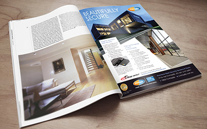 Crimsafe Security magazine ad designs