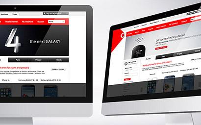 Vodafone Australia digital design