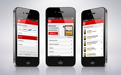 Vodafone mobile site design