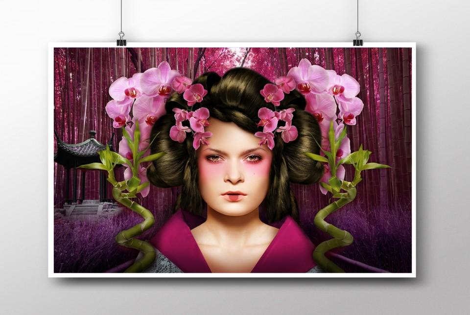 Maiko digital artwork poster