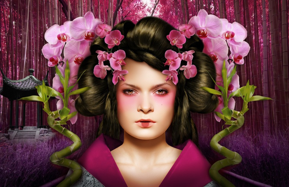 Maiko digital artwork