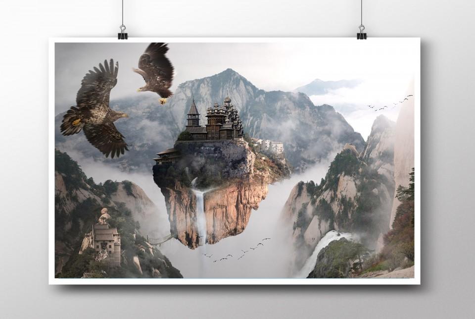 Zhangjiajie digital artwork poster
