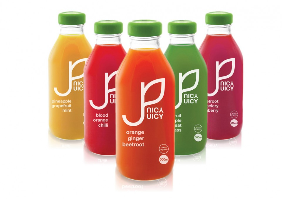 Juicy Juice logo and packaging design