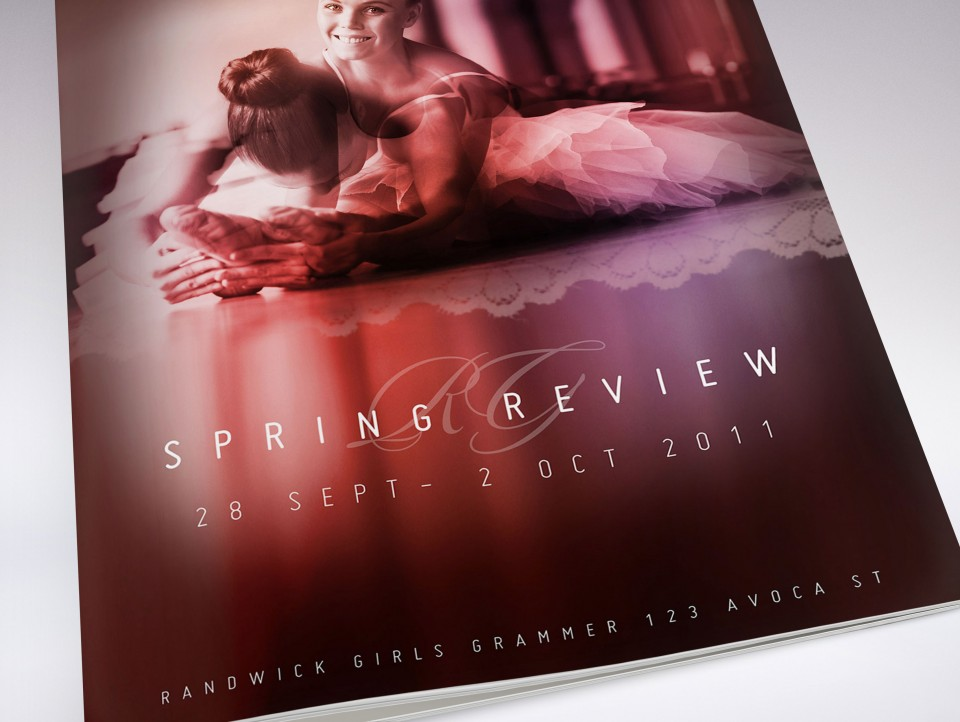 Spring Ballet Review Program Booklet