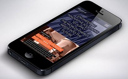 Hunwick mobile site design