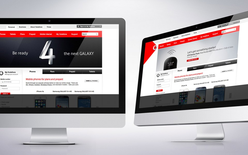 Vodafone websute