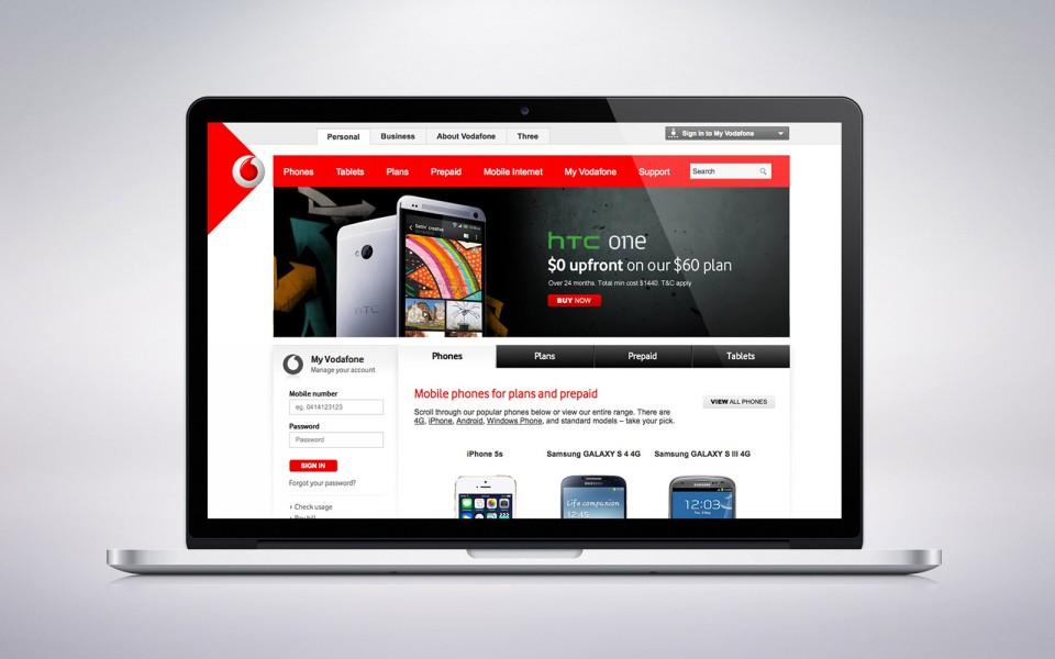 Vodafone web campaigns