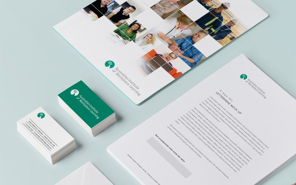 Australian Institute for Workplace Learning program and stationery