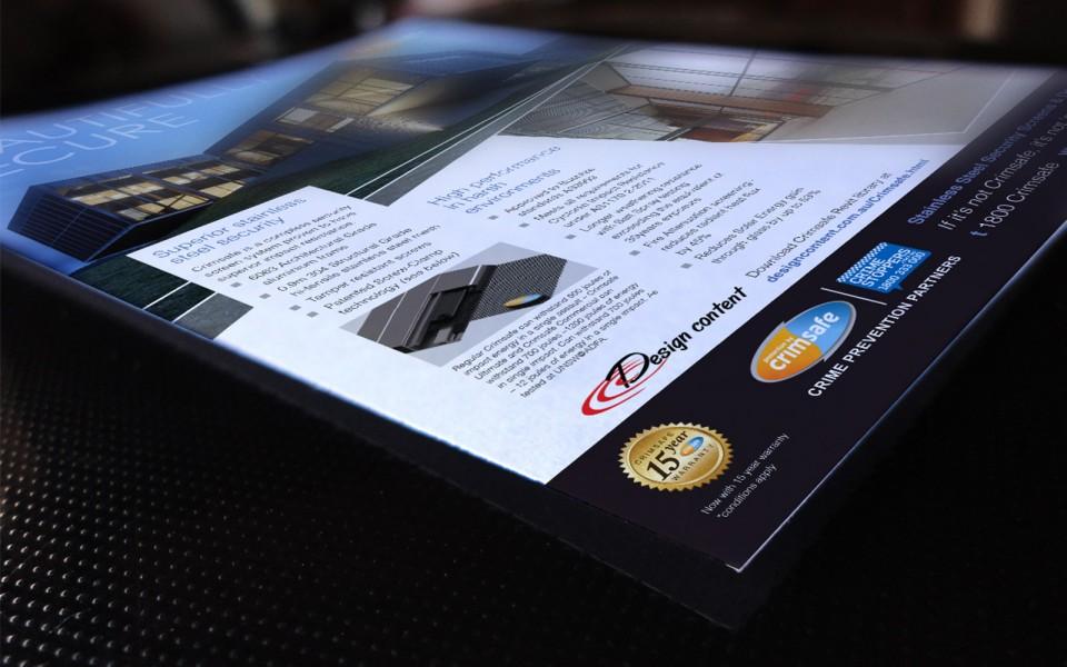 Crimsafe Security magazine design