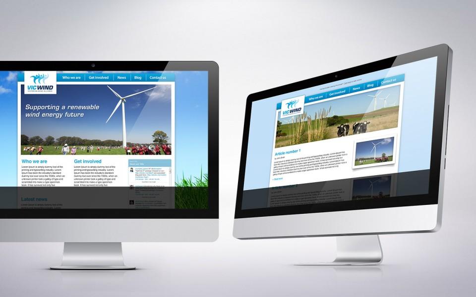 The Victorian Wind Alliance website designs
