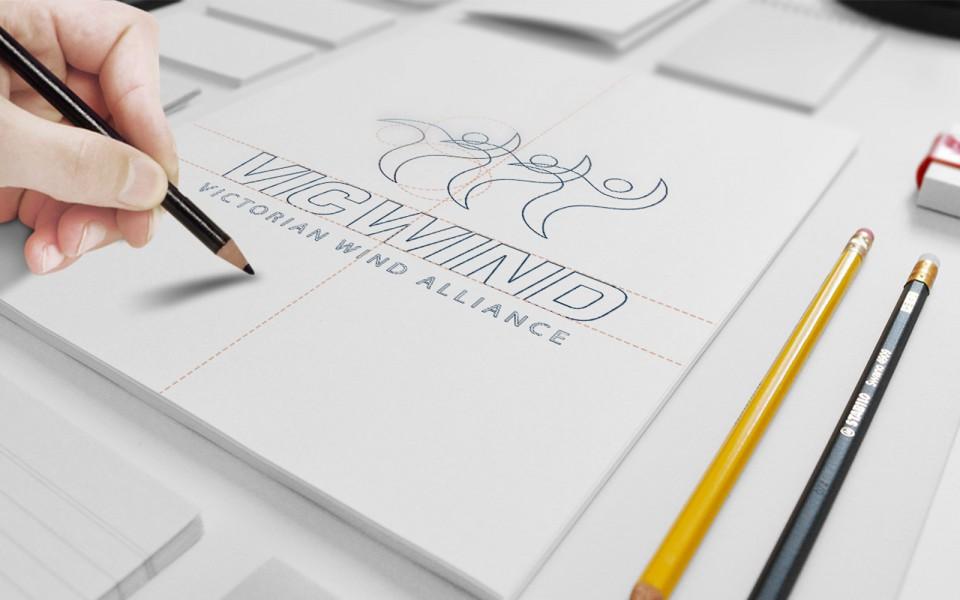 The Victorian Wind Alliance logo designs