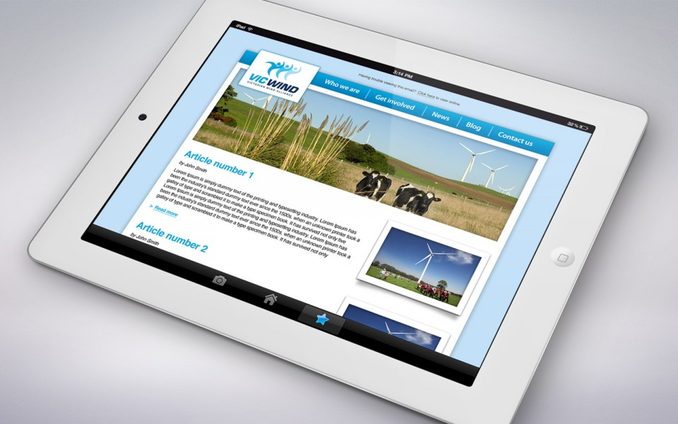 The Victorian Wind Alliance email