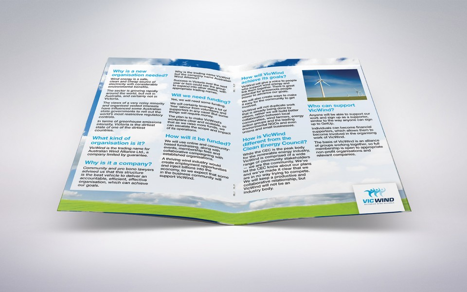 The Victorian Wind Alliance information booklet