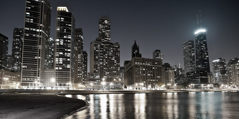 city night skyline photo
