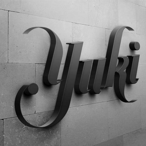 yuki designs logo wall mounted