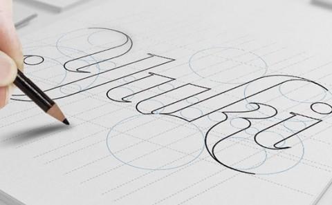 yuki logo design sketch book image