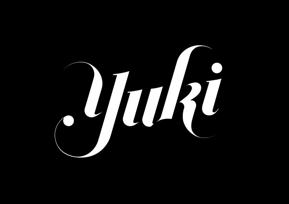 yuki designs logo on black