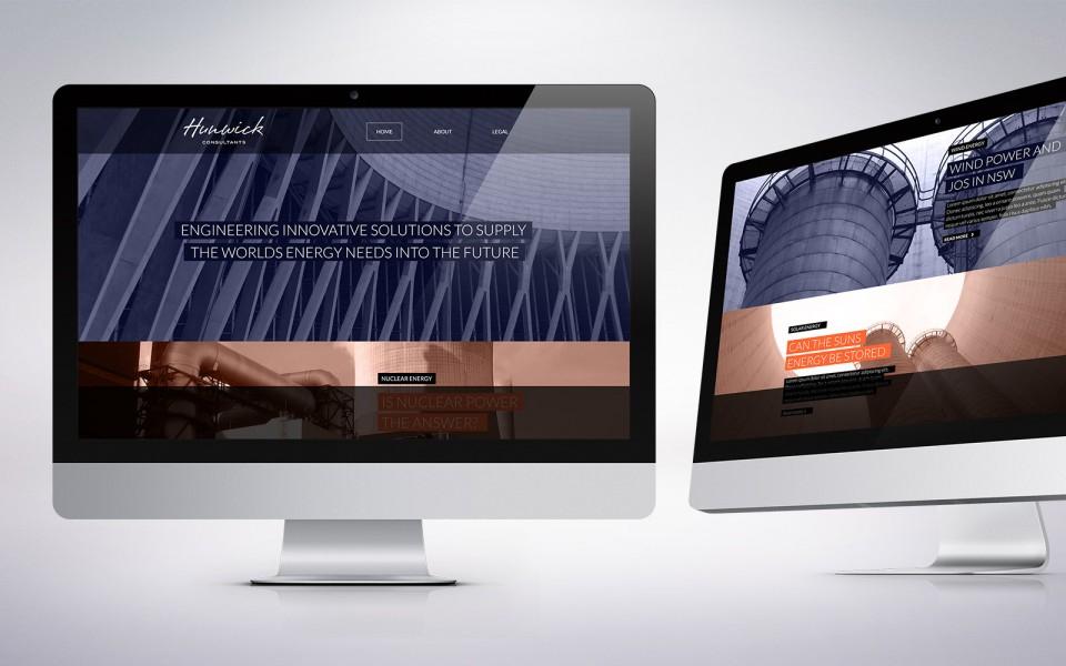 Hunwick website design