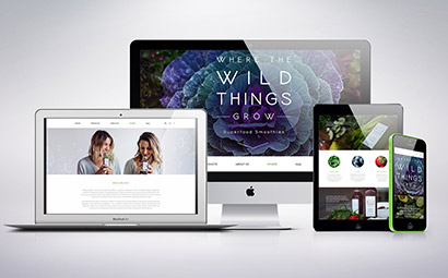 Where the Wild Things Grow Smoothie Co Responsive Website