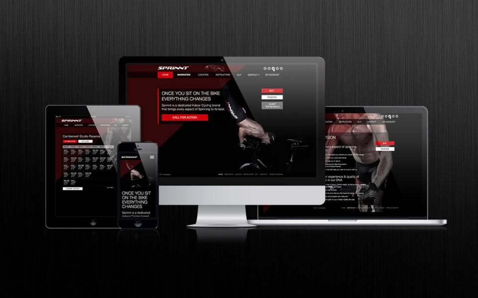 SPRINNT responsive website mock up