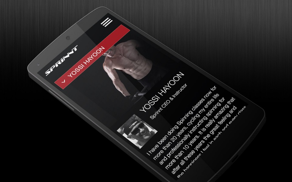 SPRINNT mobile website mock up
