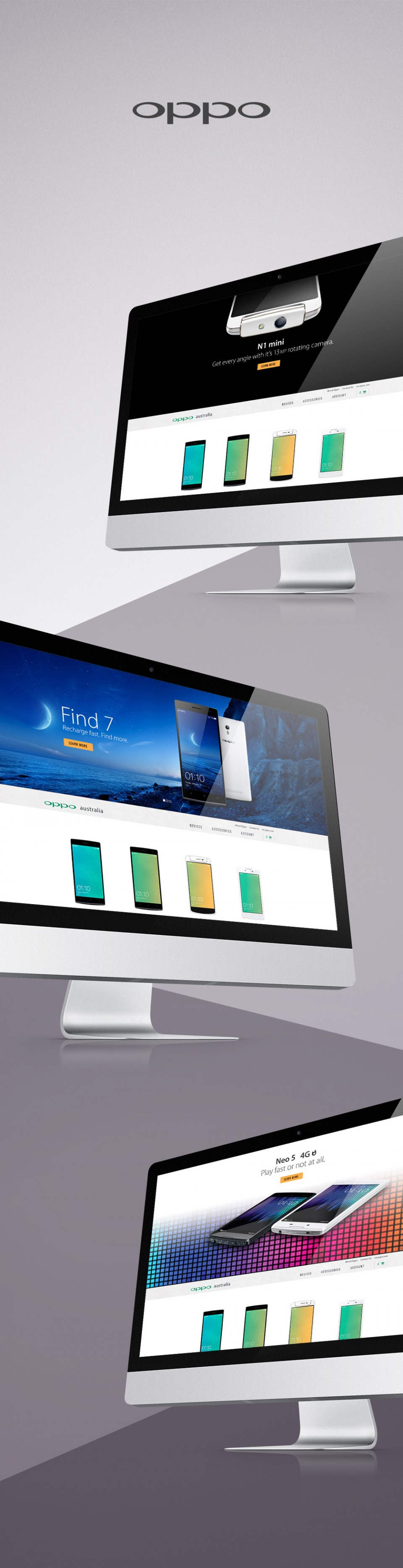 OPPO Website design